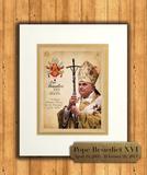 Pope Benedict XVI Commemorative Matted Prints
