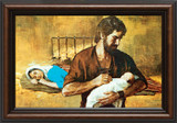 Holy Family - Walnut Framed Art