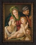 Holy Family by Bronzino Framed Art