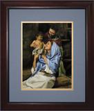 Holy Family II by Jason Jenicke Matted - Cherry Framed Art