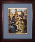 Finding in the Temple by Jason Jenicke Matted - Cherry Framed Art