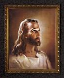 Head of Christ - Ornate Dark Framed Art