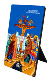 The Crucifixion Vertical Desk Plaque