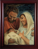 Nativity by Jason Jenicke Cherry Framed Art