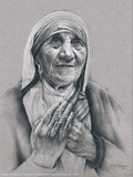 Mother Teresa by Lisa Brown Poster