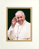 Pope Francis Waving Matted 5x7 Print