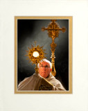 Pope Francis with Monstrance Matted 5x7 Print
