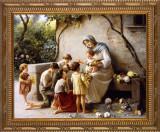 Adoration by Giuseppe Magni Ornate Gold Frame