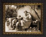 Sepia Adoration by Giuseppe Magni Framed Art Ornate Frame
