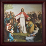 Jesus with the Children Framed Art