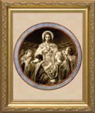 Christ, Bread of Angels Matted - Standard Gold Framed Art