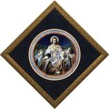 Christ, Bread of Angels Matted - Ornate Gold Framed Art