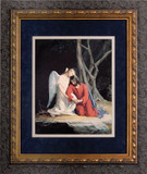 Gethsemane Matted - Ornate Dark Framed Art
