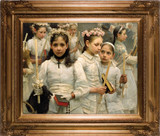 After the First Holy Communion (Detail 3 Girls) Canvas - Museum Framed Art