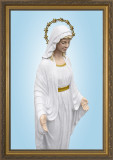 Our Lady Good Help - Gold Framed Art