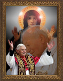 Popes and Mary Collage Framed Art