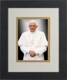 Pope Benedict Formal Matted - Black Framed Art
