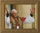 Pope Benedict Rejoicing Framed Art