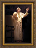 Pope Benedict Standing in Blessing Matted - Black Framed Art
