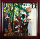 Pope John Paul II with Children Framed Art