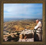 Pope John Paul II on Mount Sinai Framed Art
