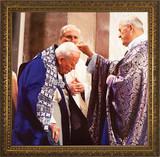 Pope John Paul II Receiving Ashes Framed Art