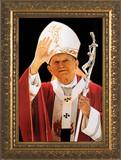 St. John Paul II Waving Framed Art