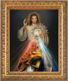 St. John Paul II with Monstrance and Divine Mercy Framed Art
