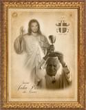 St. John Paul II and Divine Mercy Framed Art