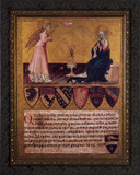 Annunciation with Verse by Giovanni di Paolo Framed Art