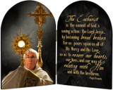 Pope Francis with Monstrance Arched Diptych