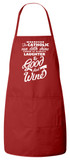 Catholic Wine Apron (Red)