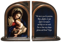 Madonna and Child Bookends
