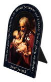 St. Joseph (Older) Prayer Arched Desk Plaque