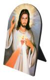Divine Mercy Detail Arched Desk Plaque