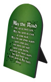 May the Road Rise Arched Desk Plaque