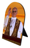 Pope Francis Giving Blessing Arched Desk Plaque