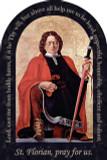 St. Florian Firefighter's Prayer Arched Magnet