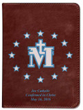 Personalized Catholic Bible with Miraculous Medal Cover - Burgundy RSVCE
