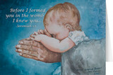 Safe in Arms with Scripture Verse Greeting Card