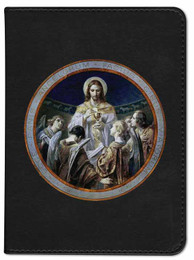 Personalized Catholic Bible with Bread of Angels - Black RSVCE