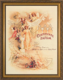 Certificate of Baptism II Gold Framed