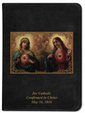 Personalized Catholic Bible with Sacred and Immaculate Hearts Cover - Black NABRE