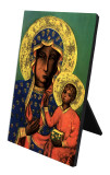 Our Lady of Czestochowa Vertical Desk Plaque
