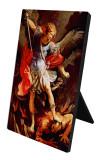 St. Michael the Archangel Vertical Desk Plaque