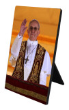Pope Francis Giving Blessing Desk Plaque