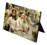 After the First Holy Communion (Detail 3 Girls) Horizontal Desk Plaque