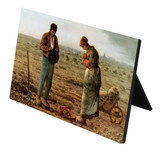 The Angelus by Millet Horizontal Desk Plaque