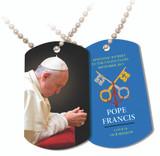 Pope Francis Praying Commemorative Apostolic Journey Dog Tag