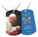 Pope Francis Praying Commemorative Apostolic Journey Dog Tag